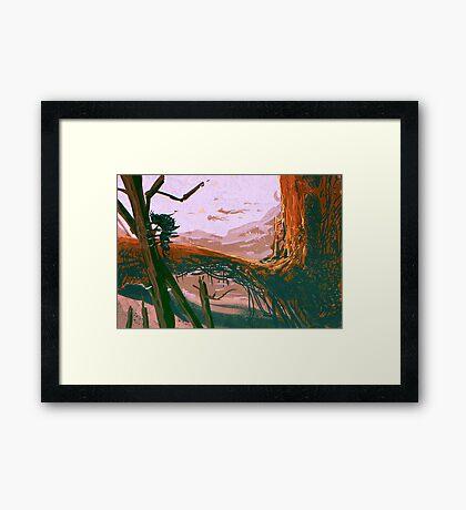 A planet Framed Print
