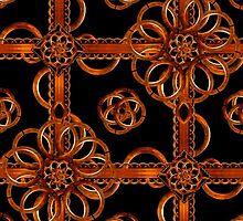 Refined Wood Decorative Pattern by DFLC Prints