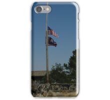 Flags and landscape of Wyoming iPhone Case/Skin
