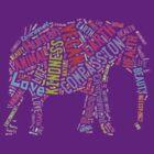 Vegan Elephant by thehippievegan