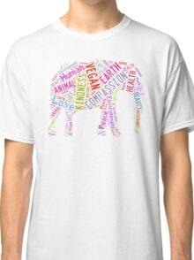 Vegan Elephant Classic T-Shirt