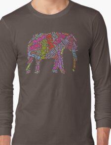 Vegan Elephant Long Sleeve T-Shirt