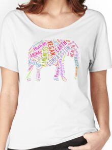 Vegan Elephant Women's Relaxed Fit T-Shirt