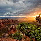 Warm Glow at the Colorado National Monument by RondaKimbrow