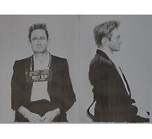 Johnny Cash mugshot Photographic Print