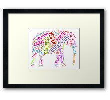 Vegan Elephant Framed Print