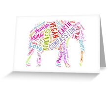 Vegan Elephant Greeting Card