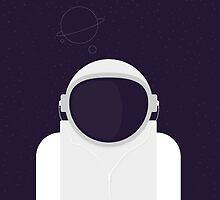 Astronaut is listening music by kudretkeskin