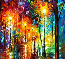 LATE STROLL by Leonid  Afremov