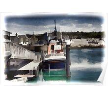 Portpatrick Lifeboat- digitally enhanced Poster