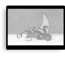 M C in the Snow Canvas Print