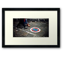 Keep Walking Framed Print