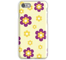 Purple yellow floral pattern iPhone Case/Skin