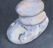 THREE WHITE PEBBLES by Tracy Sheffield