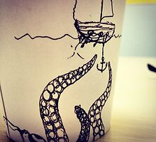 Octopus on Starbucks by Vikterhugo