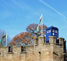TARDIS on Cardiff Castle by Annabominable