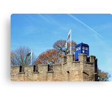 TARDIS on Cardiff Castle Canvas Print