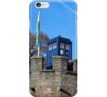 TARDIS on Cardiff Castle iPhone Case/Skin