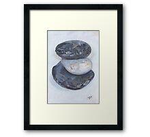 THREE PEBBLES III Framed Print