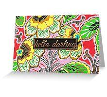 Hello Darling Greeting Card