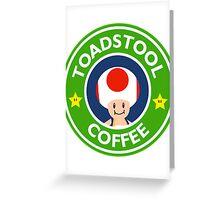 Toadstool Coffee - Themed Greeting Card