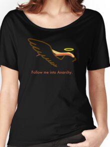 Follow Bird Jesus into Anarchy Women's Relaxed Fit T-Shirt