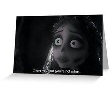 Tim Burton- Corpse Bride Greeting Card