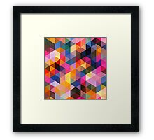 Coloured Triangles Framed Print
