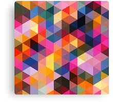 Coloured Triangles Canvas Print