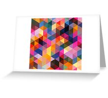 Coloured Triangles Greeting Card