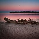 moon set @ sunrise by james smith