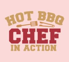 HOT BBQ chef in action One Piece - Short Sleeve