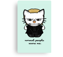 American Horror Kitty Canvas Print