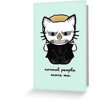 American Horror Kitty Greeting Card