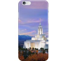 Draper Temple at Sunset 20x16 iPhone Case/Skin