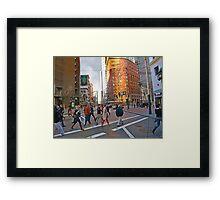 Market Street Evening Rush Hour Framed Print
