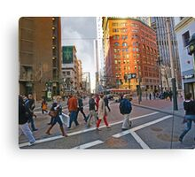 Market Street Evening Rush Hour Canvas Print