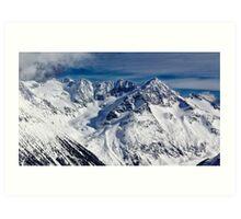 Mountains in Garibaldi Provincial Park Art Print
