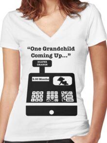 Order A Grandchild Women's Fitted V-Neck T-Shirt