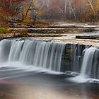Misty Morning Waterfall by Kenneth Keifer