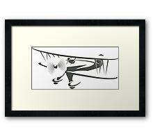 Retro Airplane Emblem  Framed Print