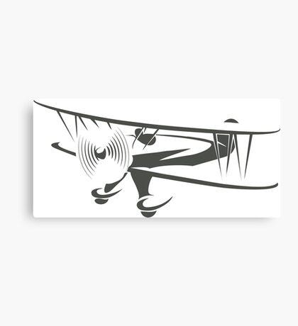 Retro Airplane Emblem  Canvas Print