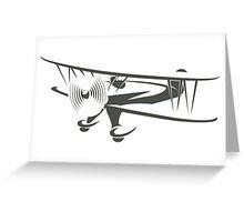 Retro Airplane Emblem  Greeting Card