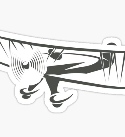 Retro Airplane Emblem  Sticker