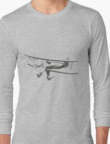 Retro Airplane Emblem  Long Sleeve T-Shirt