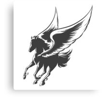 Engraving Winged Horse Canvas Print