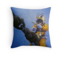 The Diver Throw Pillow