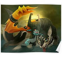 Midna and Wolf Link Poster