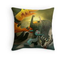 Midna and Wolf Link Throw Pillow