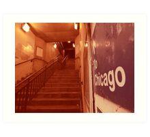 to chicago Art Print